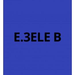 E3ELEB Bleu Electrique brillant - Vinyle adhésif Ecotac - Durabilité jusqu'à 6 ans