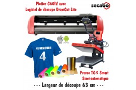 Atelier Textile C60IV avec presse semi automatique TC-5 Smart Bluetooth 38 x 38 cm
