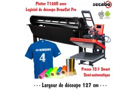 Atelier Textile Pro T120II avec presse semi automatique TC-7 Smart Bluetooth 40 x 50 cm