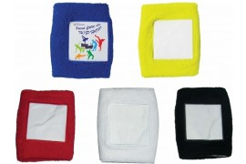 Bandeau de poignet coton 5 coloris