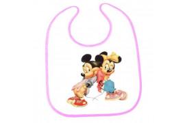 Bavoir bébé bordure rose 31,5 x 40,5 cm (vendu à l'unité)