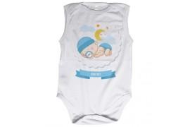 Body bébé Royal Subli sans manches blanc - 5 tailles