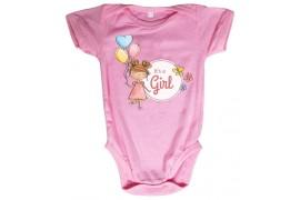 Body bébé Royal Subli manches courtes rose - 5 tailles