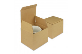 Boite cadeau en carton ondulé 11 x 10 x 10 cm pour mug