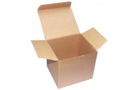 Boite cadeau en carton brun pour mug