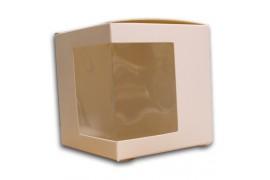Boite cadeau blanche pour tasse ou mug avec fenêtre à droite ou à gauche