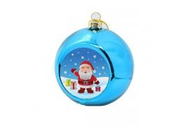 Boule de Noël Ø 8 cm coloris bleue à suspendre avec plaque sublimable (vendu à l'unité)