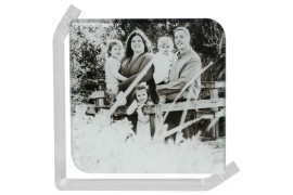 Cadre photo en verre lisse support transparent 10 x 10 cm