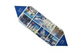 Chemin de table aspect lin écru 320 g/m² - 100 x 30 cm (vendu à l'unité)