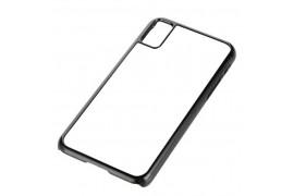 Coque 2D Iphone X en PVC dur noir ou blanc