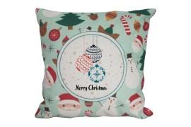 Housse de coussin de Noël verte 45 x 45 cm pour sublimation