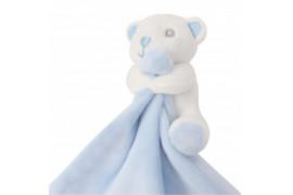 Doudou pour enfant ourson coloris bleu 100% polyester Mumbles MM700