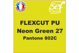 PU FlexCut Neon Green 27