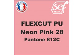 PU FlexCut Neon Rose 28