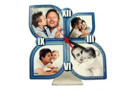 Horloge de bureau MDF forme fleur 19,3 x 19,3 cm épaisseur 3 mm (vendu à l'unité)