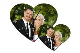 Horloge MDF cœur