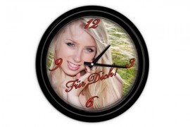 Horloge murale ronde plastique