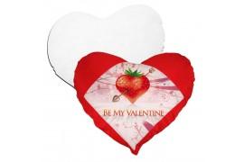 Housse de coussin coeur rouge 42 x 38 cm toucher très doux avec garniture (vendu à l'unité)