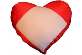 Housse coussin coeur rouge