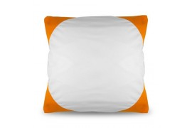 Housse de coussin bicolore 40 x 40 cm avec angles coloris orange