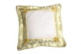 Housse de coussin satinée jaune format 38 x 38 cm