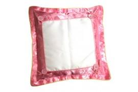 Housse de coussin satinée rose format 38 x 38 cm