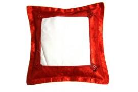 Housse de coussin satinée rouge format 38 x 38 cm
