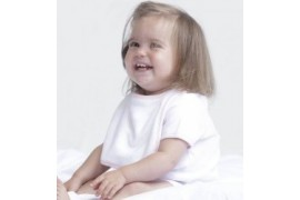 Bavoir blanc pour bébé avec bordure couleur LW22T