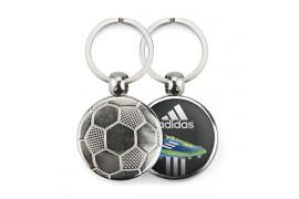 """Lot de 100 porte-clés métalliques Ø 30 mm """"MTF"""" Football"""