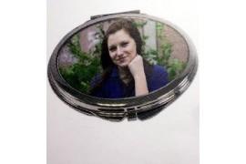 Miroir de poche ovale pour sac à main