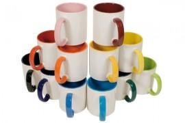 Mug bicolore intérieur couleur avec revêtement DURAGLAZE® de qualité supérieure