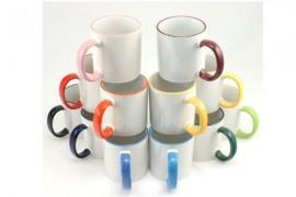 Mug bicolore intérieur blanc avec revêtement DURAGLAZE® de qualité supérieure