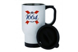 Mug isotherme inox 390 ml avec couvercle
