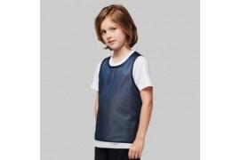 Chasuble enfant sportif réversible 100% polyester maille ajourée - 2 tailles - 4 coloris