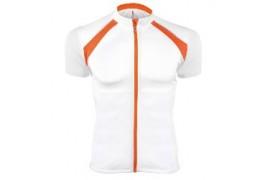 Tee-shirt cycliste zippé 100% polyester bicolore (3 coloris) PA447