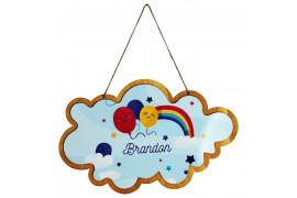 Pancarte en bois HDF à suspendre nuage 28 x 17,6 cm pour sublimation (vendu à l'unité)
