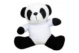 Peluche Panda H 19 cm avec mini tee-shirt pour sublimation (vendu à l'unité)