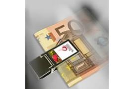 Pince à billets avec plaque alu rectangle sublimable
