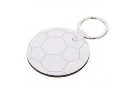 Porte-clé MDF format ballon de football Ø 5,5 cm (vendu à l'unité)