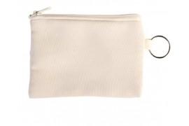 Porte-monnaie en lin personnalisable en sublimation avec porte-clé