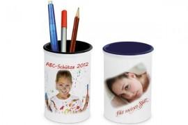 Pot à crayon H 13 cm - Intérieur noir ou bleu marine