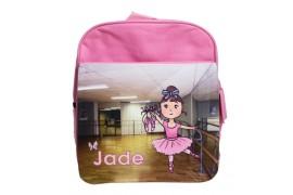 Sac à dos coloris rose pour enfant avec rabat détachable (vendu à l'unité)