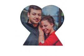 Verre acrylique haute gamme format coeur