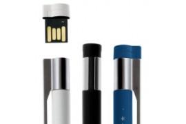 Stylo USB métal chromé mat - Mémoire 8 Go