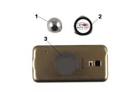 Support smartphone magnétique argenté avec plaque alu sublimable