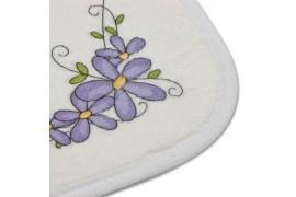 Tapis de bain beige 40 x 59 cm 300 gr/m² - Epaisseur 6 mm -100% polyester