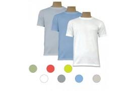 Tee-shirt couleur au toucher coton col rond
