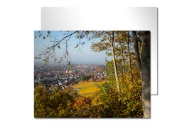 Tableau photo Chromaluxe en aluminium blanc brillant 15 x 20 cm (vendu à l'unité)