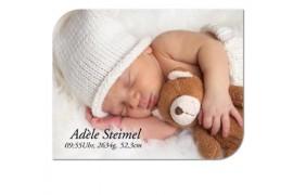 Tableau photo Chromaluxe Design en aluminium blanc brillant 25 x 20 cm (vendu à l'unité)
