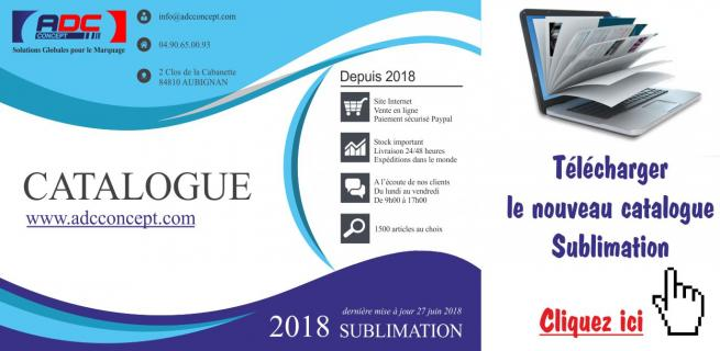 Catalogue sublimation